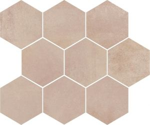 Opoczno ARLEQUINI MOSAIC HEXAGON 28 x 33,7 G.1 ND032-009